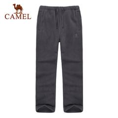 CAMEL骆驼户外童款抓绒裤 童装舒适保暖青少年抓绒裤正品