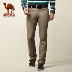 Camel骆驼男装 潮流休闲裤 修身长裤 男款商务休闲裤长裤男裤子