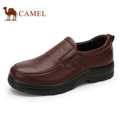 CAMEL骆驼男鞋真皮商务正装皮鞋男士低帮套脚鞋舒适爸爸鞋