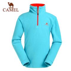 CAMEL骆驼户外童装抓绒衣 青少年儿童款 舒适轻便保暖抓绒衣正品