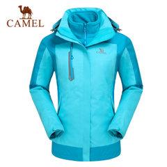 CAMEL骆驼户外 女冲锋衣透气抗静电抓绒三合一两件套冲锋衣