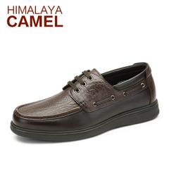 喜马拉雅骆驼男鞋 春季新款真皮休闲鞋英伦男鞋商务休闲皮鞋潮鞋