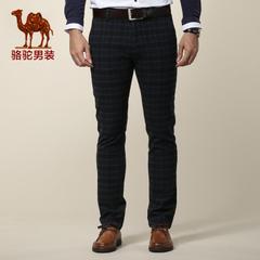 Camel/骆驼男装 秋冬潮流休闲裤 修身直筒休闲裤裤 休闲长裤子