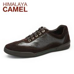 喜马拉雅骆驼男鞋 新款真牛皮英伦时尚日常休闲皮鞋流行低帮男鞋
