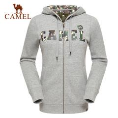 CAMEL骆驼户外休闲连帽卫衣 女款开衫带帽棉长袖卫衣女 正品