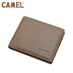 camel骆驼 头层牛皮 钱包 男士横款钱夹 大钞夹MC103104-01