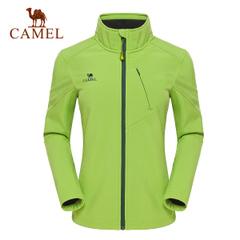 CAMEL骆驼户外女软壳衣 女士抗静电防风保暖立领开衫软壳衣正品
