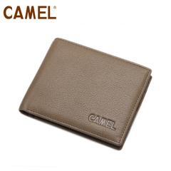 camel骆驼 头层牛皮 钱包 男士横款钱夹 大钞夹 正品