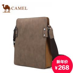 Camel/骆驼男包新款牛皮商务休闲单肩包男斜挎包欧美百搭男士包包