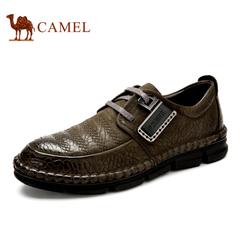 【特价清仓】Camel 骆驼男鞋 英伦时尚压花皮男鞋春季潮流系带鞋