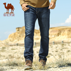 Camel骆驼男装 冬季保暖牛仔裤男士休闲牛仔裤长裤男士加绒长裤