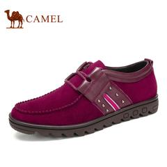 【特价清仓】Camel 骆驼男鞋 时尚韩版拼接春季潮流 系带男潮鞋