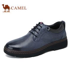 Camel/骆驼男鞋休闲皮鞋男冬季圆头耐磨休闲鞋男潮鞋真皮舒适鞋男