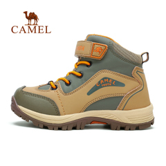 CAMEL骆驼户外青少年登山鞋 儿童款游徒步保暖防水抗冲击登山鞋