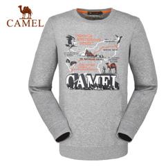CAMEL骆驼户外休闲卫衣 男款圆领长袖休闲卫衣 舒适t恤正品