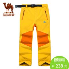 小骆驼童装季儿童户外软壳裤青少年男女童防风保暖运动冲锋裤