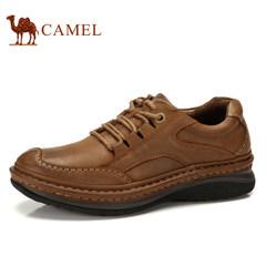 骆驼男鞋春秋款男士日常休闲鞋子真皮头层牛皮鞋舒适耐磨