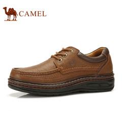 CAMEL骆驼日常运动休闲男士鞋子真皮系带流行舒适耐磨