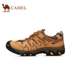 CAMEL骆驼情侣款户外登山 低帮系带防滑耐磨休闲鞋男鞋女