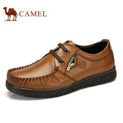 CAMEL骆驼男鞋真皮休闲流行男鞋系带商务休闲皮鞋子