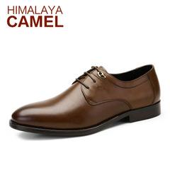 【特价清仓】HIMALAYA骆驼男鞋正装皮鞋春季商务德比鞋男士皮鞋子