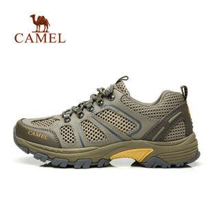 Camel骆驼户外休闲徒步鞋 2014新品情侣款透气系带户外休闲徒步鞋