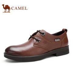 【特价清仓】Camel骆驼男鞋 春季商务休闲皮鞋 系带耐磨男士皮鞋