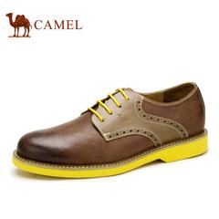 Camel 骆驼男鞋 英伦休闲鞋 春季潮流鞋子皮耐磨鞋子休闲男鞋