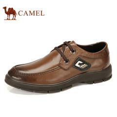 Camel骆驼男鞋头层牛皮细带商务休闲鞋舒适耐磨男士鞋休闲皮鞋