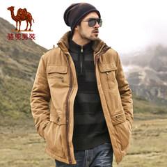 骆驼正品 冬装韩版棉袄保暖棉服中长款外套修身棉衣男