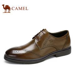 【特价清仓】Camel 骆驼男鞋 商务牛皮布洛克鞋男士皮鞋