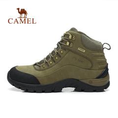 CAMEL骆驼户外徒步鞋 男士高帮磨砂皮耐磨减震鞋登山徒步鞋正品
