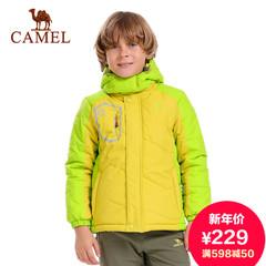 Camel骆驼童装 青少年童款棉服 男女童带帽防风保暖棉衣 正品