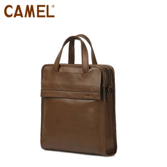 camel骆驼男包 牛皮男士手提包 竖款商务休闲公文包 商务男士包