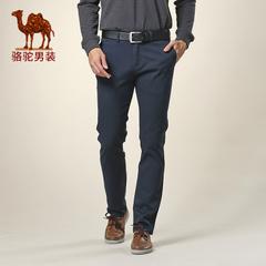 Camel骆驼男装 男时尚直筒修身休闲裤男士商务休闲长裤 潮男裤子