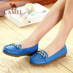 【特价清仓】Camel骆驼女鞋 舒适日常休闲新款 牛皮圆头浅口单鞋