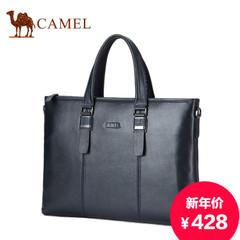 Camel/骆驼新款男包头层牛皮手提包真皮商务休闲横款手提包男包包