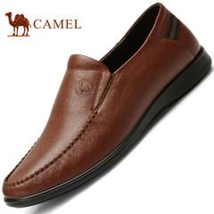 CAMEL骆驼男鞋春季新款真皮乐福鞋男商务鞋休闲鞋皮鞋男士鞋子