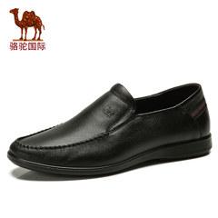 骆驼男鞋夏季真皮软面皮乐福鞋休闲软底鞋套脚舒适皮鞋流行潮流