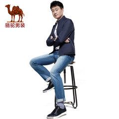 Camel骆驼 春季新款时尚男士韩版棉质直筒薄款牛仔休闲长裤子