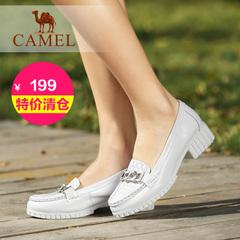 【特价清仓】camel骆驼女鞋 夏新款 时尚百搭浅口牛皮简约单鞋女