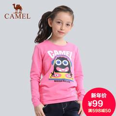 骆驼童装 儿童户外休闲衣 时尚长袖圆领套头卫衣男女童圆领套头衫