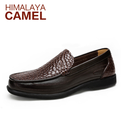 喜马拉雅骆驼男鞋 春季新款 真皮男士休闲皮鞋乐福鞋懒人鞋男