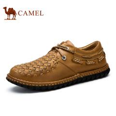 Camel 骆驼男鞋 韩版休闲潮鞋系带低帮男鞋 春季休闲男鞋