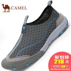 【热销16000件】CAMEL骆驼男鞋网面透气运动休闲鞋舒适套脚男网鞋