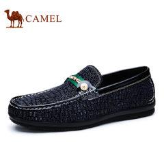 camel骆驼男鞋 春季方头套脚 韩版日常男鞋