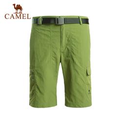 CAMEL骆驼户外速干裤 2015新款男士透气快干短裤徒步速干裤正品