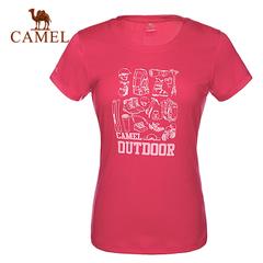 CAMEL骆驼户外速干T恤 2015春夏男女情侣款圆领短袖快干衣正品