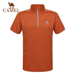 CAMEL骆驼户外速干T恤 2015春夏新款男 透气立领短袖速干衣正品