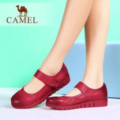 Camel/骆驼女鞋 夏款牛皮浅口休闲女鞋日常舒适休闲单鞋